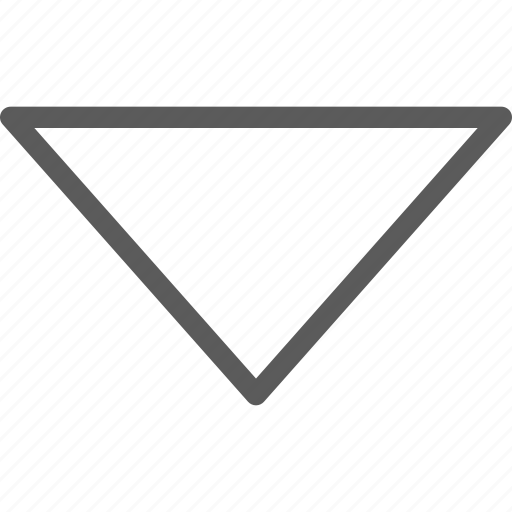arrows, badge, closed, down, indication, interface, sign icon