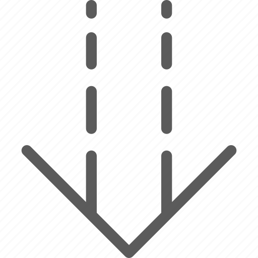 arrows, badge, down, faded, indication, interface, sign icon