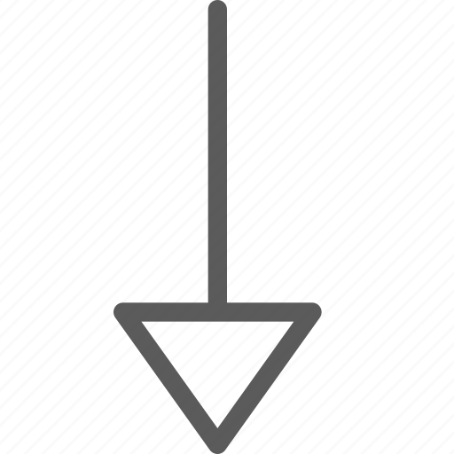arrows, badge, down, indication, interface, sign, triangle icon