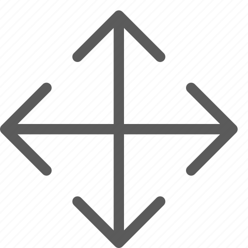 arrows, badge, directions, expand, indication, interface, sign icon