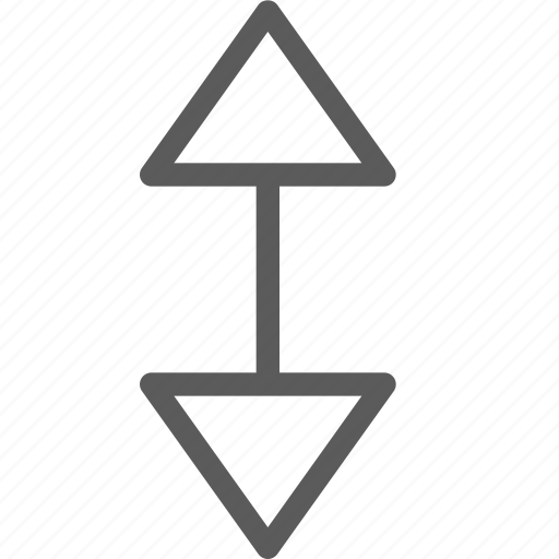 badge, down, indication, interface, sign, triangle, up icon