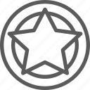 badge, badges, insignia, ribbon, stamp, star icon