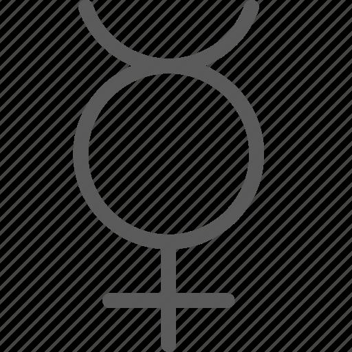 badges, insignia, mercury, ribbon, stamp icon