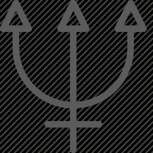 badges, insignia, neptune, ribbon, stamp icon
