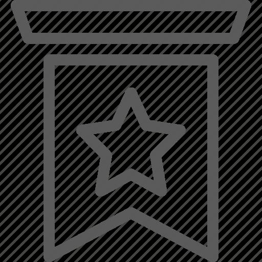 badges, insignia, ribbon, stamp icon
