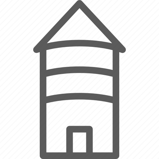 building, construction, country, estate, landmark, property, tower icon