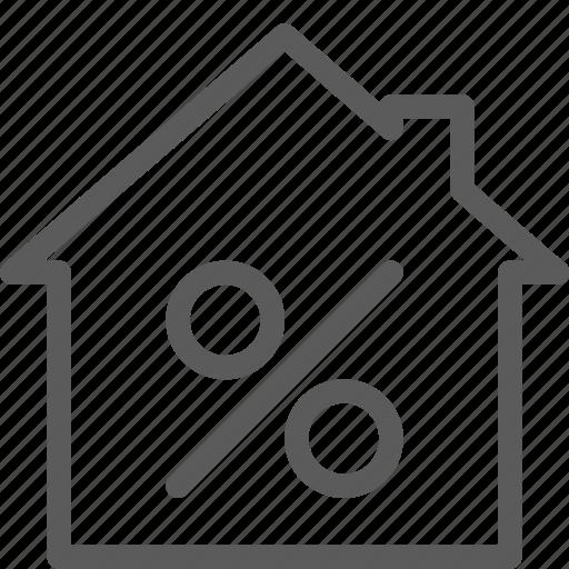 building, construction, discount, estate, home, landmark, property icon