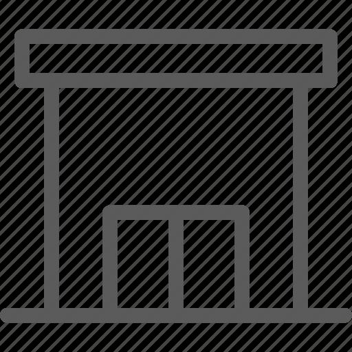 building, construction, estate, landmark, office, post, property icon
