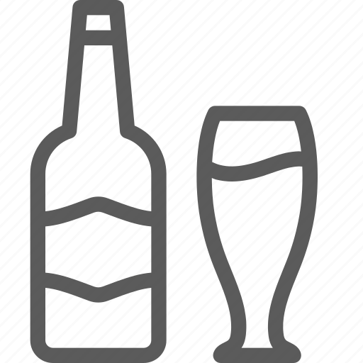 bar, beer, bottle, cafe, glass, lounge, restaurant icon