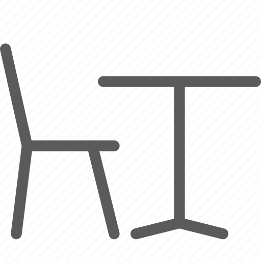 bar, cafe, chair, coffee, lounge, restaurant, table icon