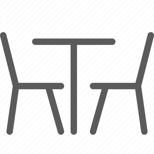 bar, cafe, chairs, coffee, lounge, restaurant, table icon