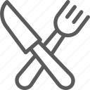 bar, cafe, fork, knife, lounge, restaurant, sign icon