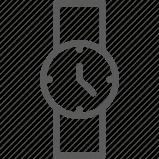 agenda, calendar, diary, journal, time, watch, wrist icon