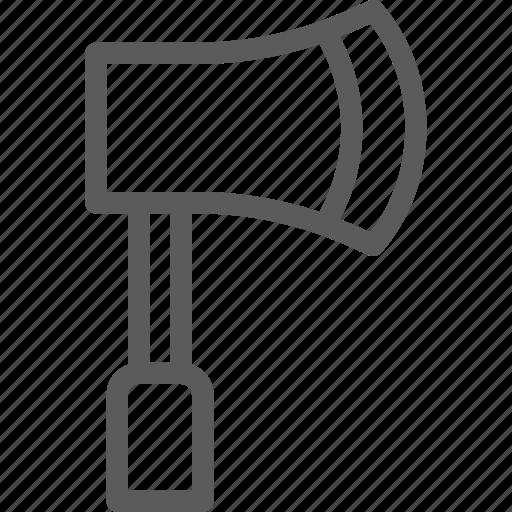 axe, camping, explore, outdoor, trip, vocation icon