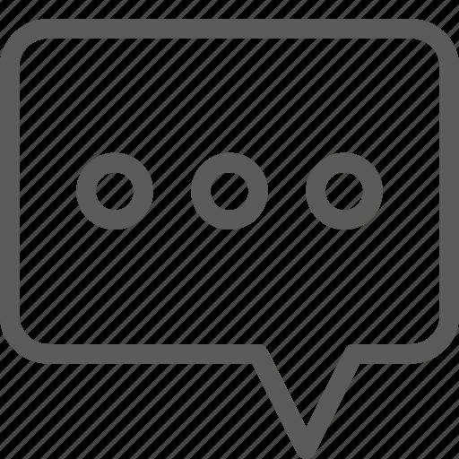 comment, communication, speech, talk icon
