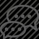 bubbles, comment, communication, speech, talk icon