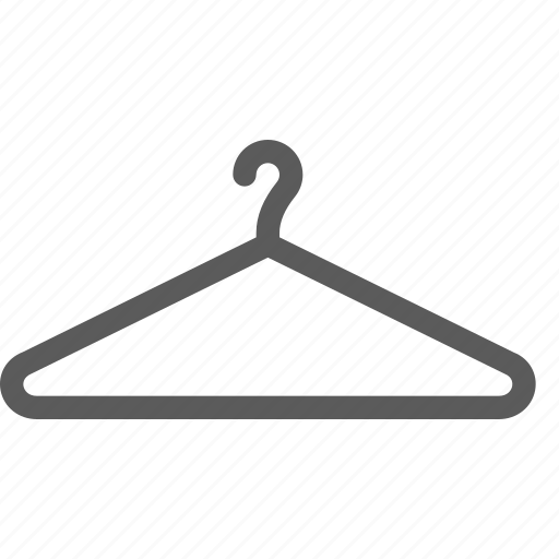 apparel, clothes, dress, gear, hanger, outfit icon