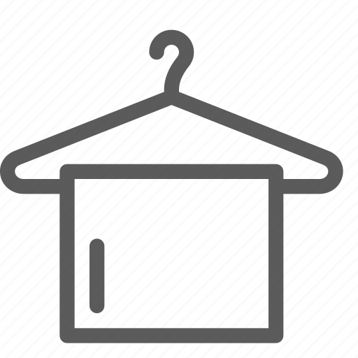 apparel, clothes, dress, gear, hanger, outfit, towel icon