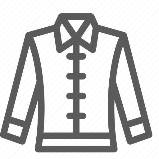 apparel, clothes, dress, gear, jacket, outfit icon