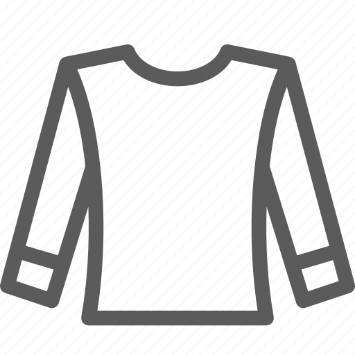 apparel, clothes, gear, long, outfit, shirt, sleeve icon