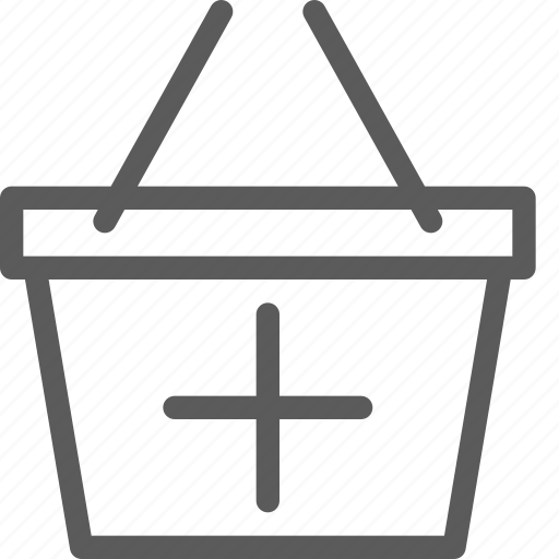 add, basket, business, ecommerce, retail, trade icon