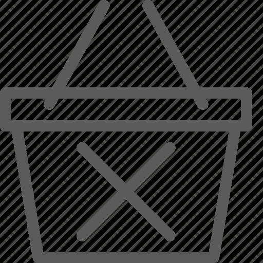 basket, business, delete, ecommerce, retail, trade icon