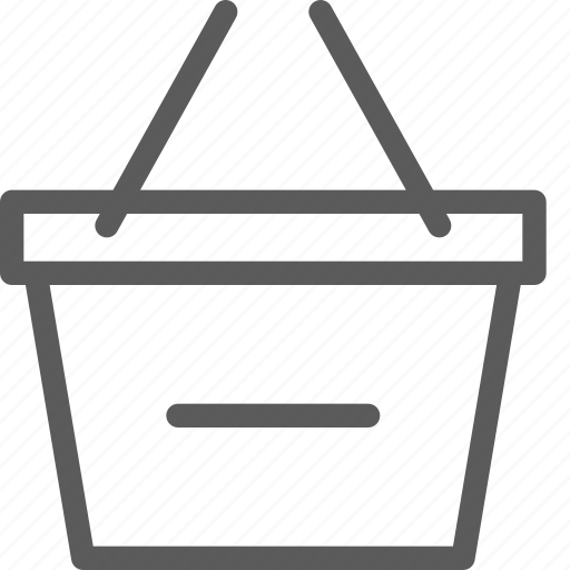 basket, business, ecommerce, remove, retail, trade icon