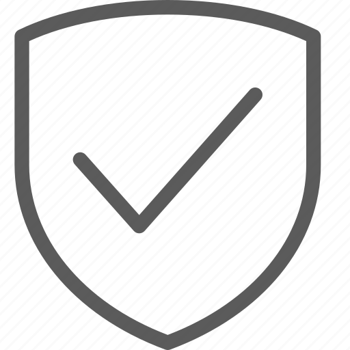 business, confirm, ecommerce, retail, shield, trade icon