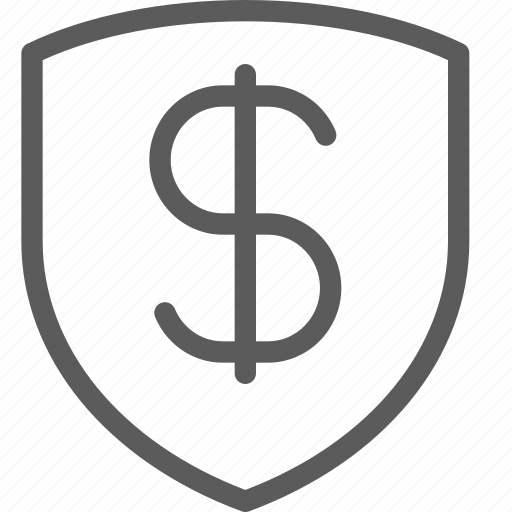 business, dollar, ecommerce, retail, shield, trade icon
