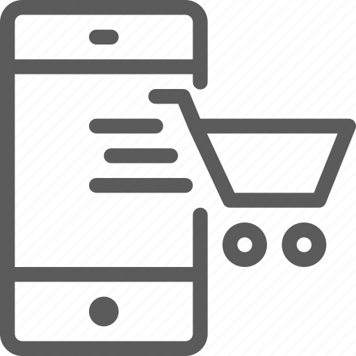 business, ecommerce, retail, shopping, smartphone, trade icon