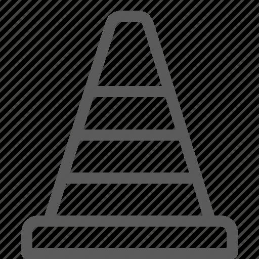 build, cone, construction, development, structure icon