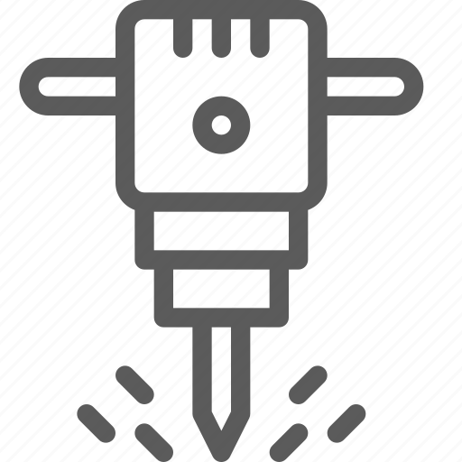 build, construction, development, hammer, rotary, structure icon