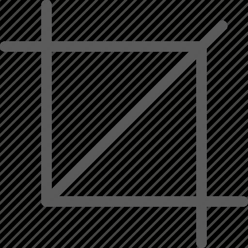 crop, design, draw, graphic, illustration, web icon
