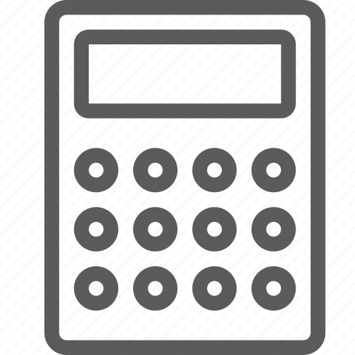 calculator, computers, devices, gadget, hardware, technology icon