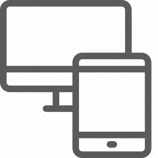 computer, connection, devices, gadget, hardware, tablet, technology icon