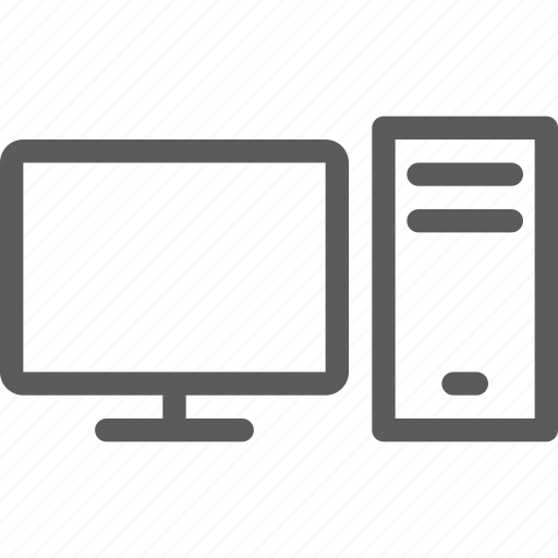 computers, desktop, devices, gadget, hardware, technology icon