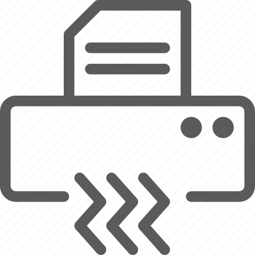computers, devices, document, gadget, hardware, shredder, technology icon