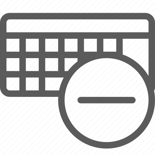 computers, devices, gadget, hardware, keyboard, remove, technology icon