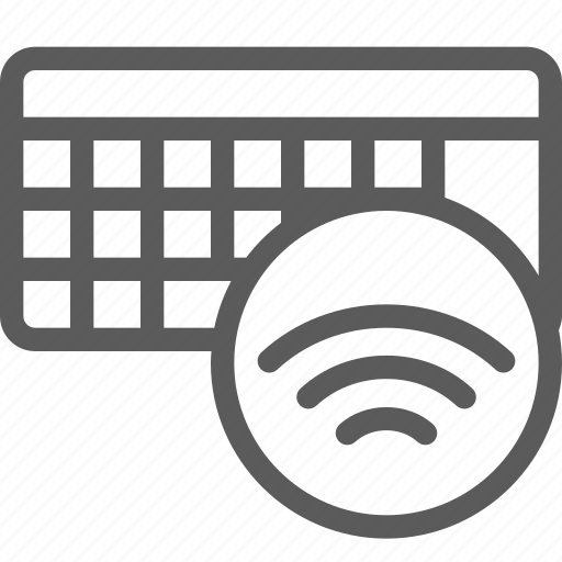 computers, devices, gadget, hardware, keyboard, signal, technology icon