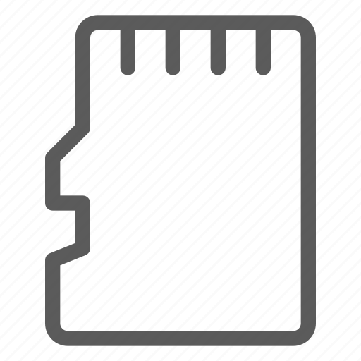 computers, devices, gadget, hardware, micro, sd, technology icon