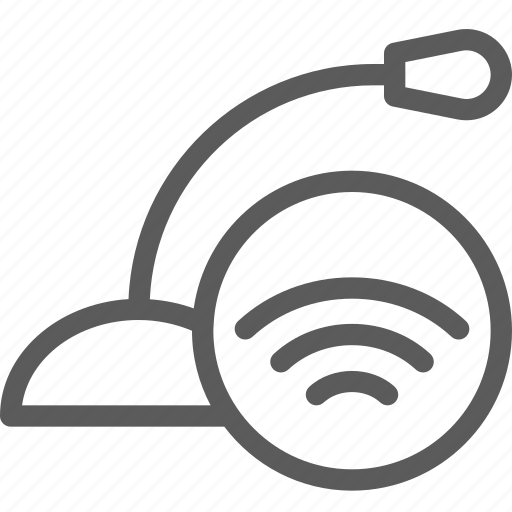 computers, devices, gadget, hardware, microphone, signal, technology icon