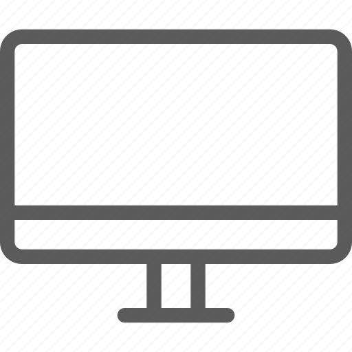computers, devices, gadget, hardware, monitor, technology icon