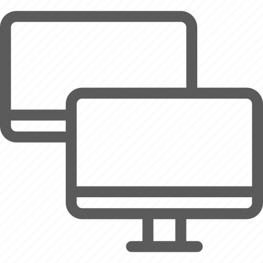 computers, connection, devices, gadget, hardware, monitor, technology icon