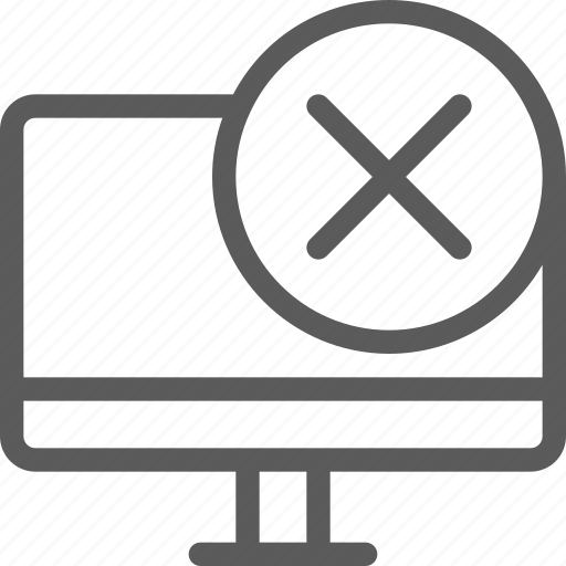 computers, devices, gadget, hardware, monitor, removed, technology icon