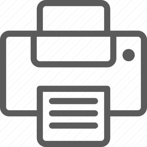 computers, devices, gadget, hardware, printer, technology icon