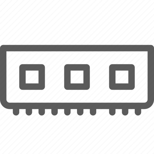 computers, devices, gadget, hardware, memory, ram, technology icon