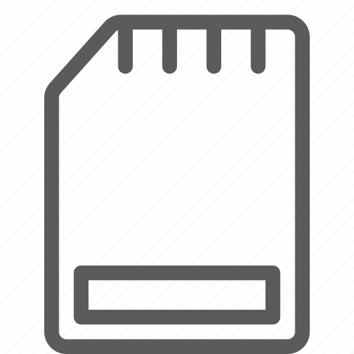 card, computers, devices, gadget, hardware, sd, technology icon