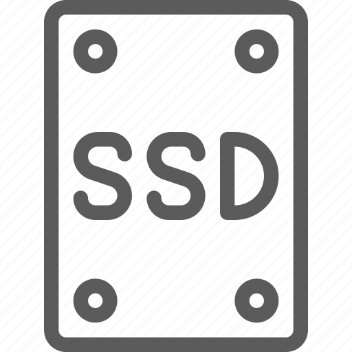 computers, devices, disc, gadget, hardware, ssd, technology icon