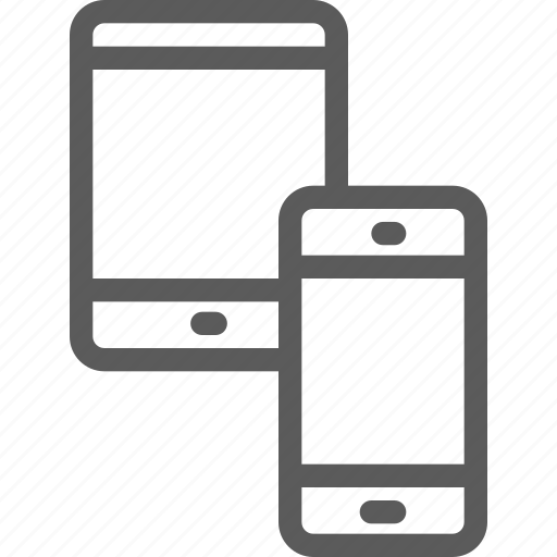computers, connection, devices, hardware, phone, tablet, technology icon