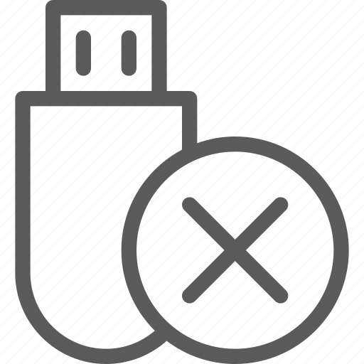 computers, devices, hardware, removed, stick, technology, usb icon